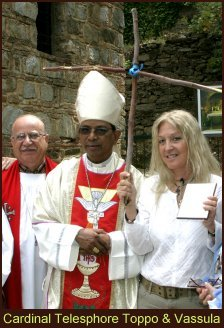 Cardinal T. Toppo with Vassula and Bishop Riah El-Assal